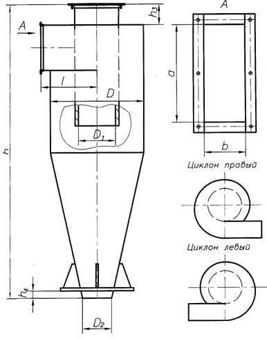 чертеж Циклон СЦН-40